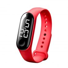 50M Waterproof Mens & Womens Digital Watch LED Sport Watch with Glass Dial Silicone strap