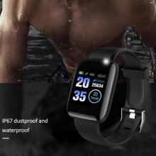 Sports Pedometer Watch Fitness Running Walking Tracker Heart Rate Pedometer