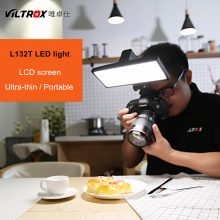 Viltrox L132T LCD Bi-Color Dimmable Slim Portable Handheld Video LED Light +Battery+Charger