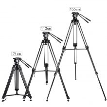 Zomei VT666 Professional Camera Video Tripod with 360-Degree Panoramic Fluid Head for DSLR Camcorder Video