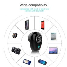 Mini Bluetooth Earphone Wireless In-Ear Invisible Handsfree Headset with Mic for All Smart Phones