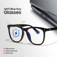 Oversized Anti Blue Light Glasses Vintage for Women & Men Computer Screen Radiation protection