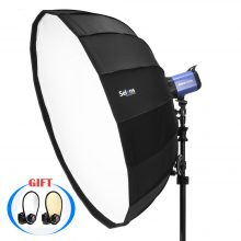 Selens 65cm Diffuser Reflector Parabolic Umbrella Beauty Dish Softbox For Off-camera Flash Fotografia Light Box Carrying Bag