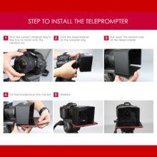 Smartphone Teleprompter for Canon Nikon Sony Camera Photo Studio DSLR Autocue